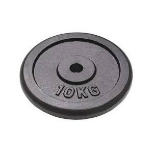 Disco in ghisa nera da 10 kg diametro 25 mm