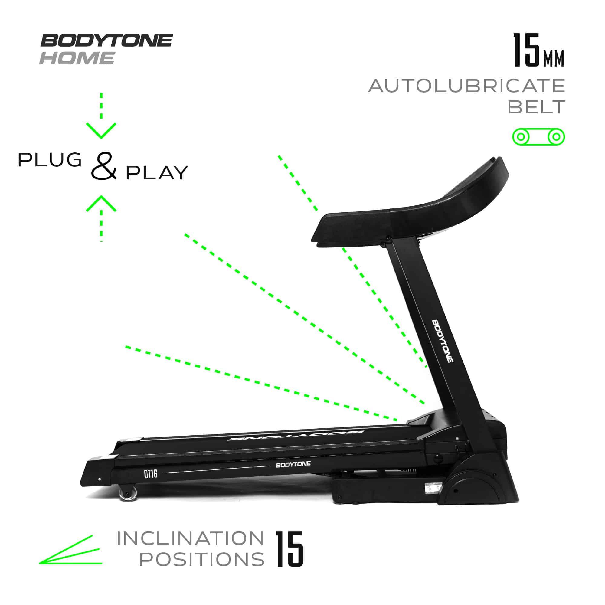 Tapis Roulant Motorizzato Elettrico BodyTone DT16